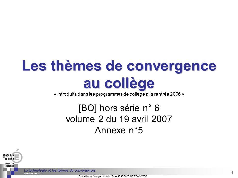 [BO] hors série n° 6 volume 2 du 19 avril 2007 Annexe n°5